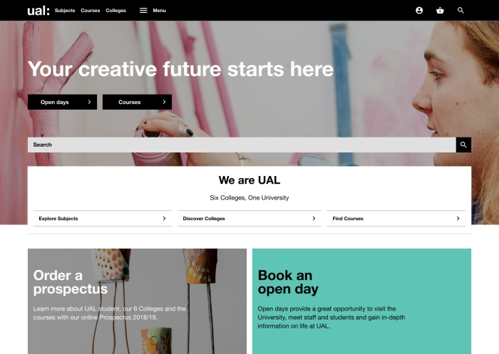 5. UAL New Website - Declan Talbert