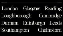 Sample of Horshoe Typeface